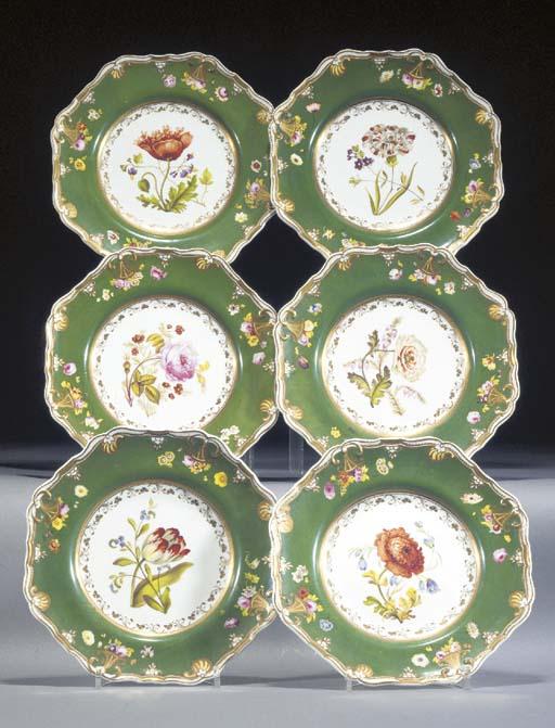 Six Spode Felspar Porcelain gr
