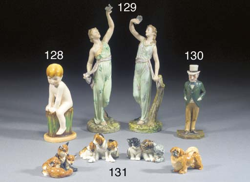 Four Royal Worcester models of