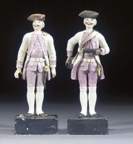 Two Frankenthal figures of gre