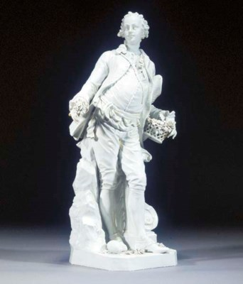 A Continental porcelain figure