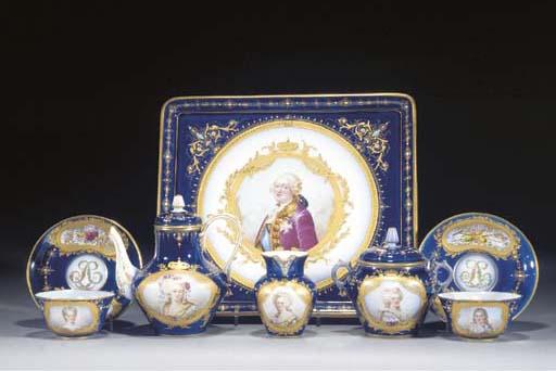 A French blue-ground Royal por