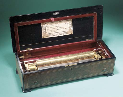 A forte-piano musical box by B