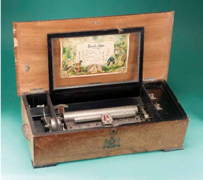 A Piccolo Zither musical box b