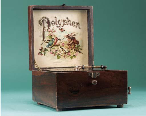 A Polyphon 6½-inch disc musica