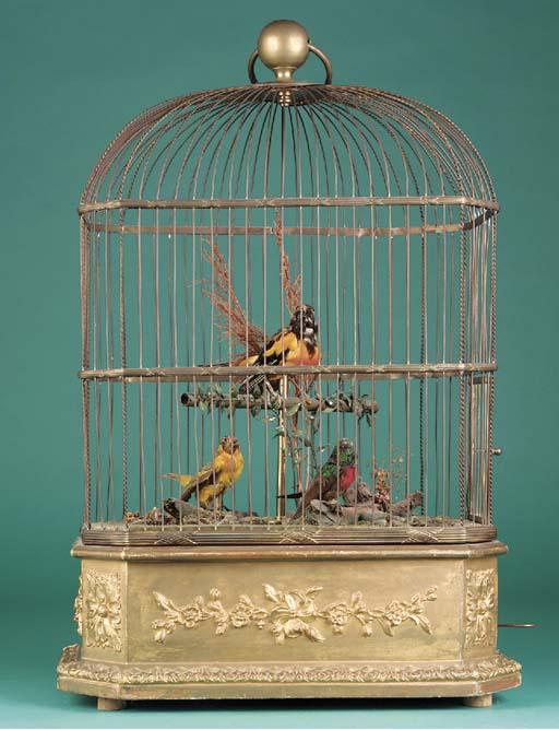 A Bontems triple singing bird