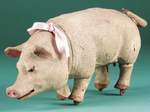A walking pig automaton