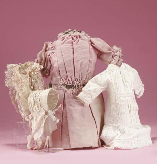 A pink wool dolls' frock