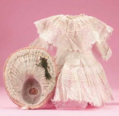 An organdie dolls' party frock