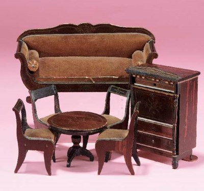 A Waltershausen sofa and four