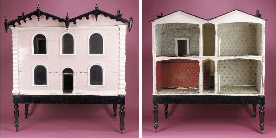 A large Victorian dolls' house