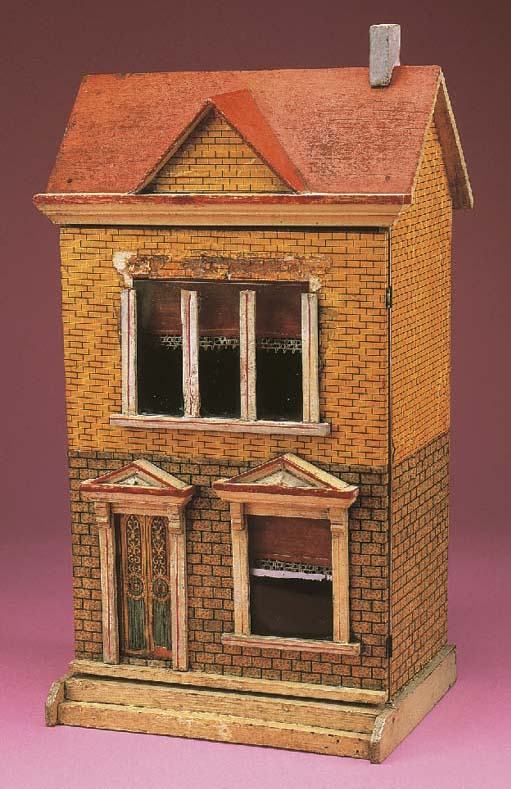 A red roof dolls' town house