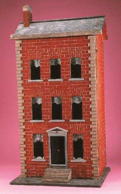 A painted wooden three-storey