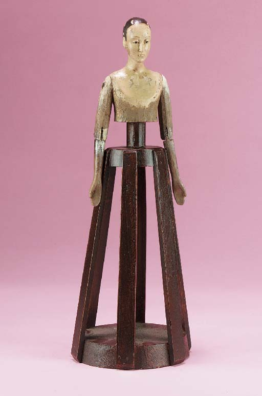 A wooden religious figure