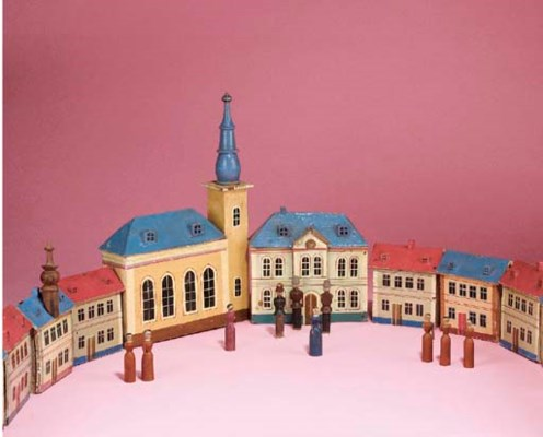A German painted wooden town