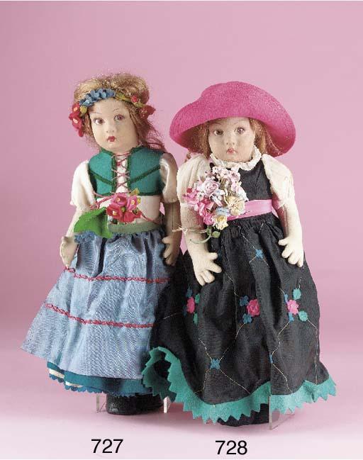 A Lenci pressed-felt doll