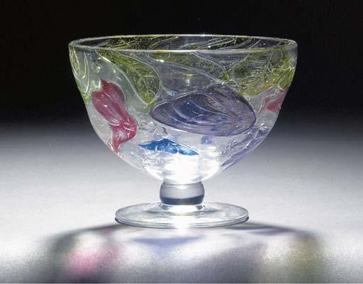 A 'TUDOR' CAMEO GLASS VASE by