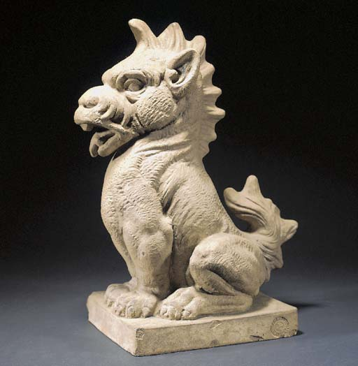 A STONEWARE GRIFFIN by Doulton