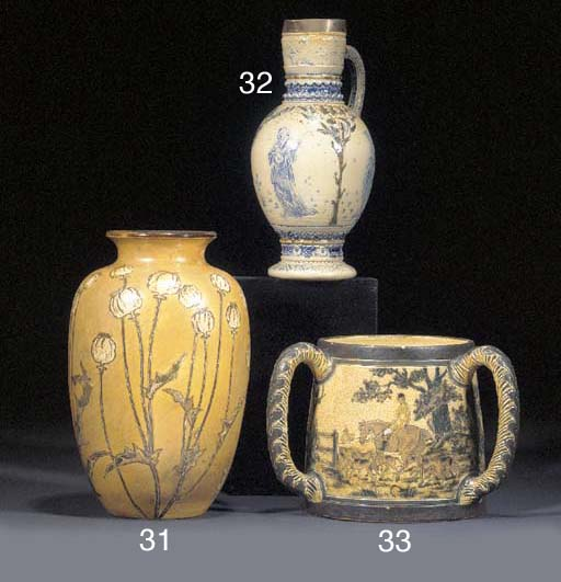 AN EARLY STONEWARE EWER by R W