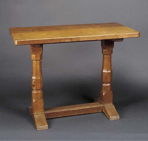 AN OAK TABLE by Robert 'Mousem