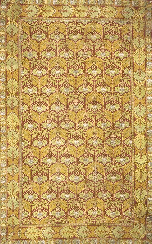 A MACHINE WOVEN CARPET IN THE