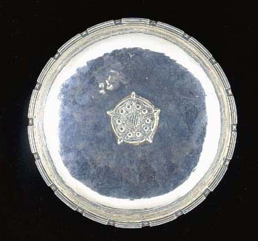 A SILVER DISH by Omar Ramsden,
