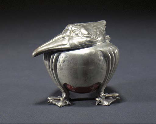 A CONTINENTAL PEWTER AND GLASS