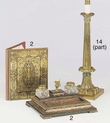 A William IV brass column tabl