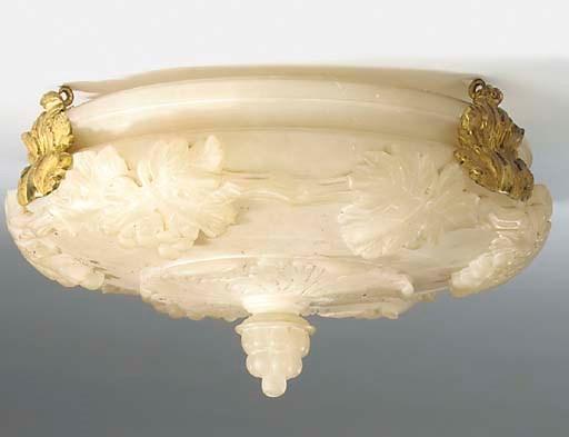 An Italian carved alabaster gi