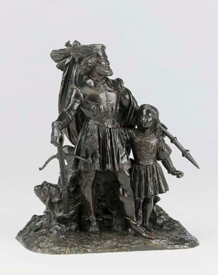 A bronze group of William Tell