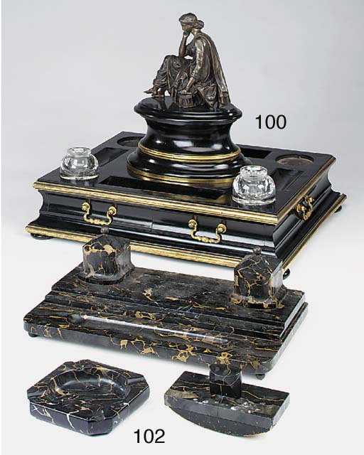 A French bronze mounted parcel