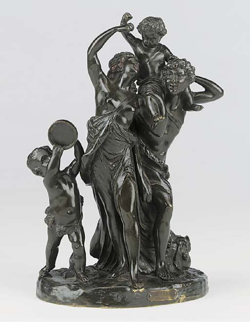 A French bronze Bacchanalian g