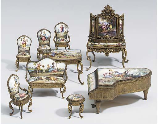 A miniature Viennese enamel an