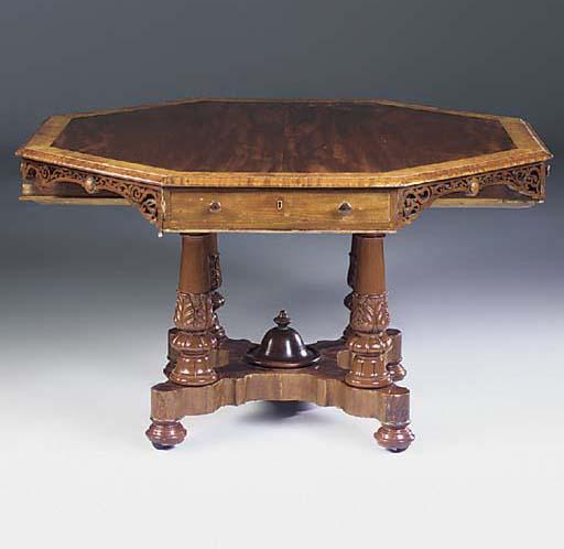 A Victorian mahogany and burr