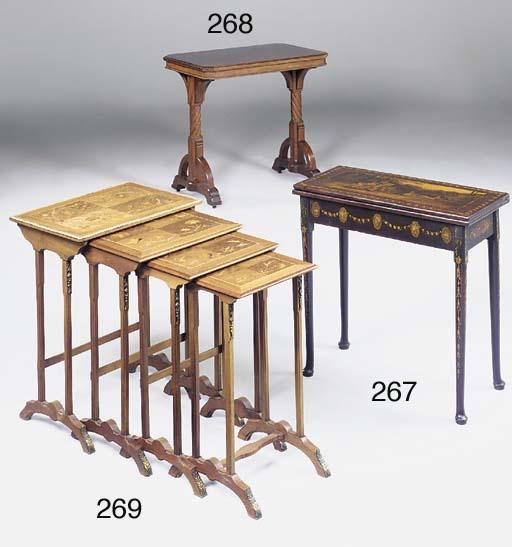 A Victorian mahogany Gothic ce