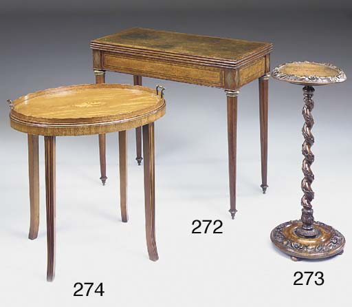 A Directoire mahogany and bras
