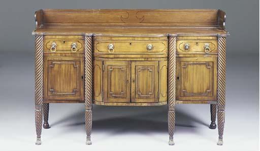 A Regency mahogany and ebonise
