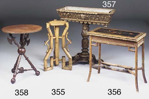 A French rosewood and bamboo c