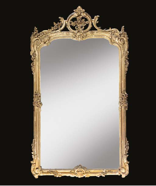 A large Victorian giltwood and