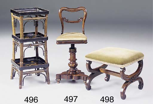 A early Victorian rosewood mus