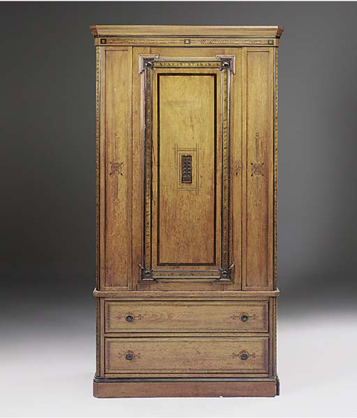 A late Victorian line inlaid s