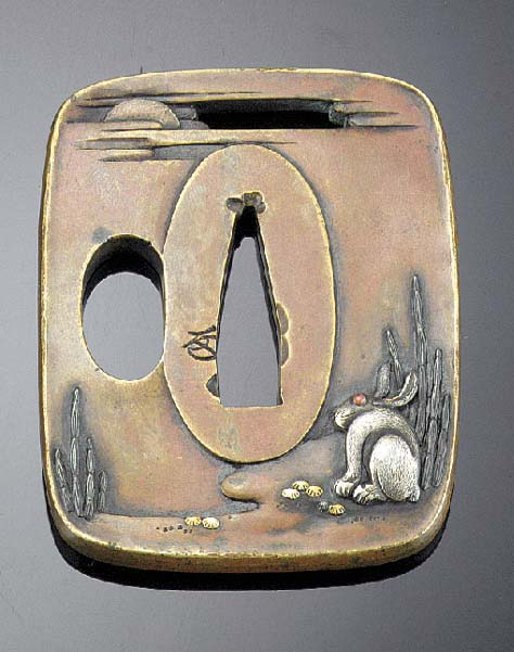 A Bronze Tusuba Edo Period