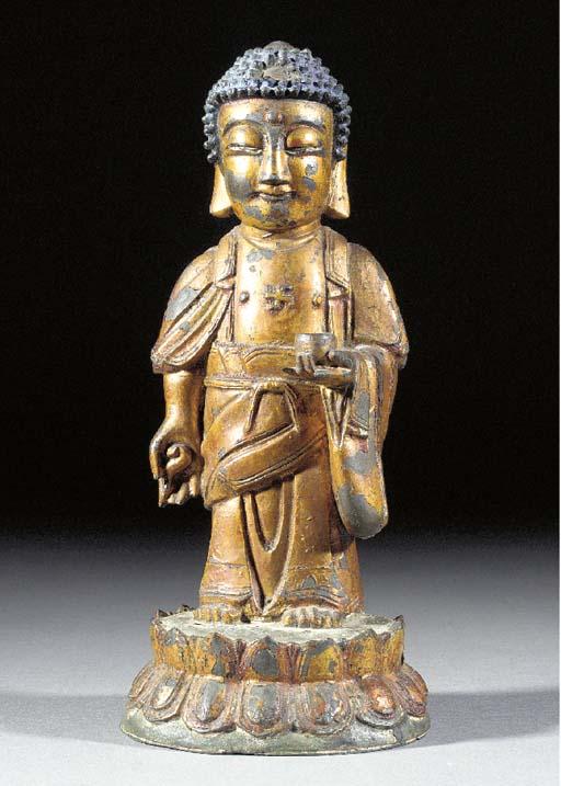 A Korean gilt lacquered model