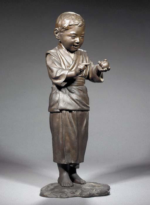 A bronze model of a child Meij