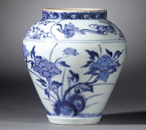 An Arita Blue and White Balust