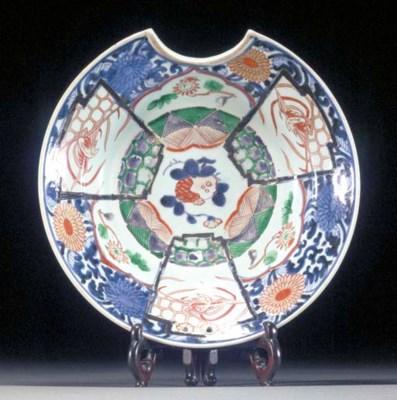 An Imari barbers bowl Edo Peri
