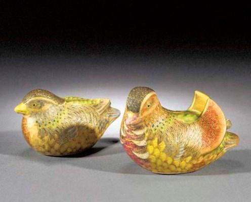 A pair of Satsuma Mandarin duc