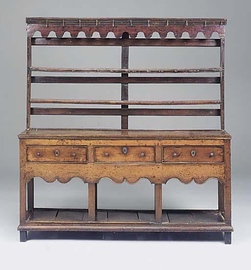 An oak dresser, Montgomeryshir