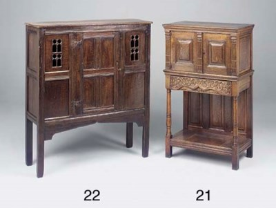An oak cabinet, French, 19th C