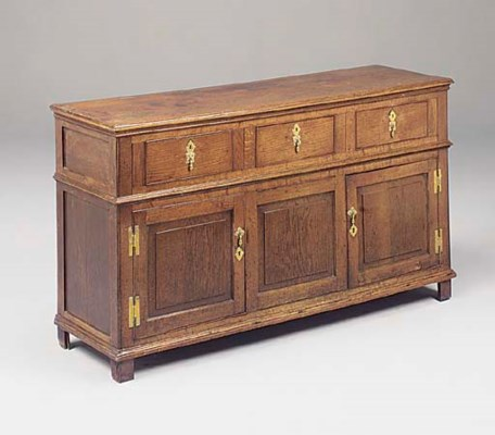 An oak dresser, English, late