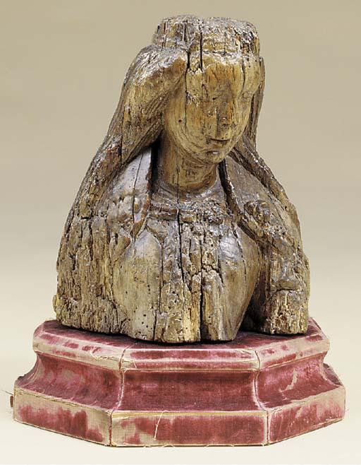 A North European carved wood b